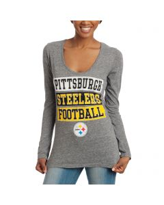 Pittsburgh Steelers Women's New Era Long Sleeve Tri-blend T-Shirt