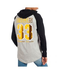 Pittsburgh Steelers Victoria's Secret Pink Women's Hooded Long Sleeve Tee