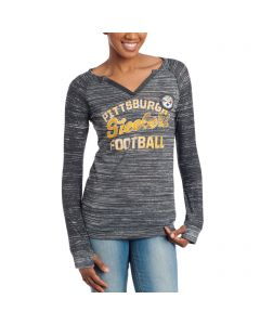 Pittsburgh Steelers Women's Majestic Lead Play Long Sleeve T-Shirt