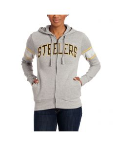 Pittsburgh Steelers Women's Boyfriend Full-Zip Fleece Hoodie