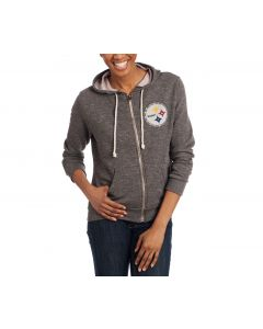 Pittsburgh Steelers Women's Full-Zip Bling Hoodie
