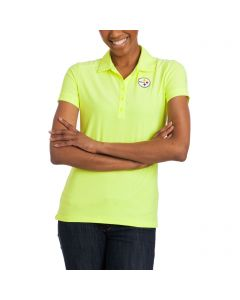 Pittsburgh Steelers Women's Nike Golf Victory Emboss Volt Polo