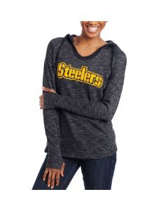 Pittsburgh Steelers Women's Majestic French Terry Hoodie