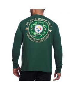 Pittsburgh Steelers Shamrock Pride Longsleeve Green T-Shirt