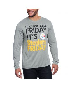 Pittsburgh Steelers Nike Dri-FIT Not Just Friday Grey Longsleeve T-Shirt