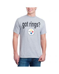 Pittsburgh Steelers Got Six Rings 2-Sided Grey T-Shirt