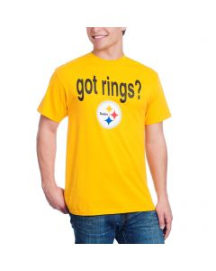Pittsburgh Steelers Got Six Rings 2-Sided Gold T-Shirt