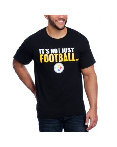 Pittsburgh Steelers It's Not Just Football Black T-Shirt-Exclusive