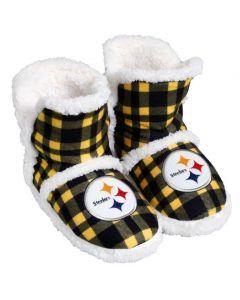 Pittsburgh Steelers Women's Sherpa Flannel Slipper Boots