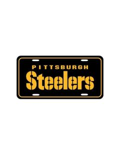 Pittsburgh Steelers Stencil Black License Plate