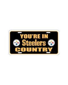 Pittsburgh Steelers Country Black License Plate