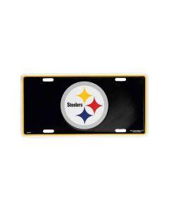 Pittsburgh Steelers Logo License Plate - Black