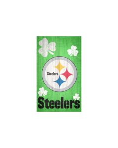 Pittsburgh Steelers Shamrock Wood Sign