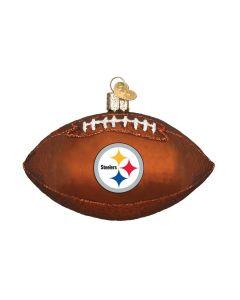 Pittsburgh Steelers Hand Blown Glass Football Ornament