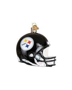 Pittsburgh Steelers Hand Blown Glass Helmet Ornament