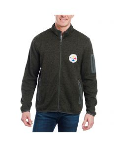 Pittsburgh Steelers GIII Green Campfire Zip Jacket