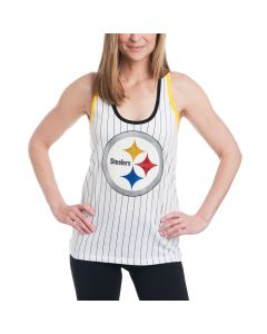 Pittsburgh Steelers Women's New Era Glitter Logo Stripe Tank