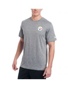 Pittsburgh Steelers Nike Coaches Short Sleeve Charcoal Top