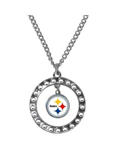 Pittsburgh Steelers Rhinestone Hoop Necklace