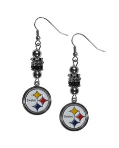 Pittsburgh Steelers Euro Bead Earrings