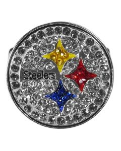 Pittsburgh Steelers Crystal Stretch Ring