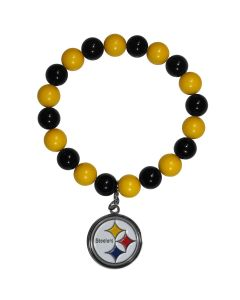 Pittsburgh Steelers Fan Bead Bracelet