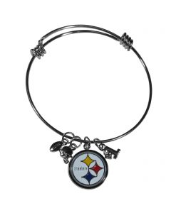 Pittsburgh Steelers Charm Bracelet Bangle