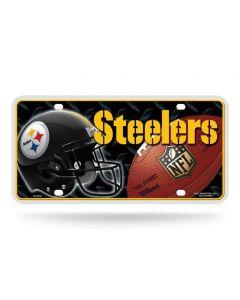 Pittsburgh Steelers Helmet/Football Metal License Plate
