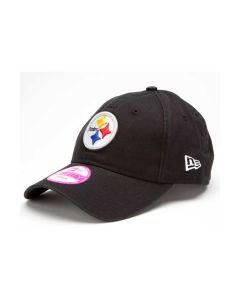 Pittsburgh Steelers New Era Women's Essential 9FORTY Black Adjustable Hat
