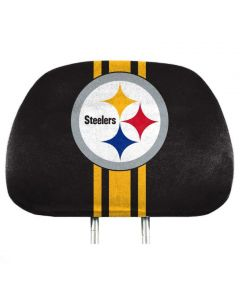 Pittsburgh Steelers Super Stripe Headrest Cover Set of Two