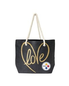 Pittsburgh Steelers Black Rope Tote