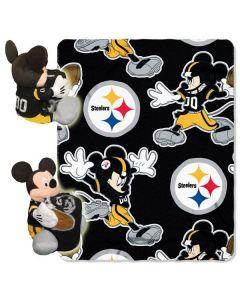 Pittsburgh Steeler Mickey Mouse Throw/Hugger Set