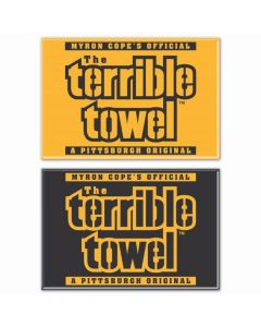 Pittsburgh Steelers 2pc Terrible Towel Gold and Black Magnet