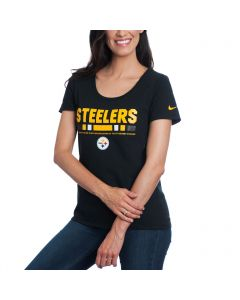 Pittsburgh Steelers Nike Women's CTN Team Scoop T-Shirt