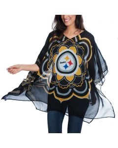 Pittsburgh Steelers Women's Peace Flower Caftan