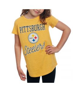 Pittsburgh Steelers Junk Food Girl's Game Time Tee