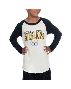 Pittsburgh Steelers Junk Food Boy's All American Raglan T-Shirt