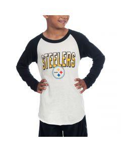 Pittsburgh Steelers Junk Food Boy's All American Raglan T-Shirt