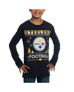 Pittsburgh Steelers Boys Long Sleeve Graphic T-Shirt