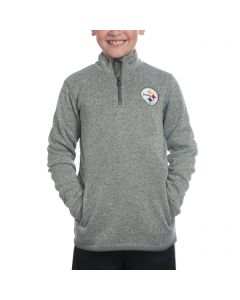 Pittsburgh Steelers Boys 1/4 Zip Knit Sweater Fleece Jacket