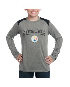 Pittsburgh Steelers Boys Half Moon Long Sleeve T-Shirt