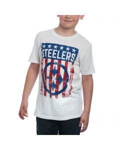 Pittsburgh Steelers Boy's Patriotic Flag T-Shirt