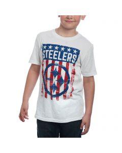 Pittsburgh Steelers Boy's Patriotic Flag T-Shirt