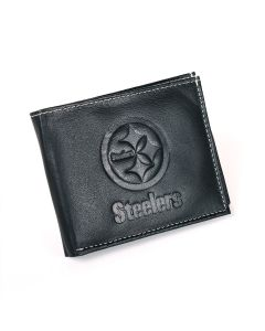 Pittsburgh Steelers Embossed Wordmark & Logo Bi-Fold Wallet