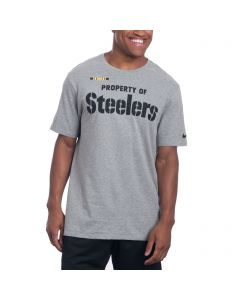Pittsburgh Steelers Nike Property Of Facility Grey T-Shirt