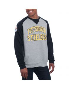Pittsburgh Steelers Junk Food Formation Raglan Fleece Crew