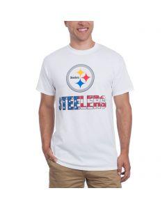 Pittsburgh Steelers Spirited Stripes Patriotic T-Shirt