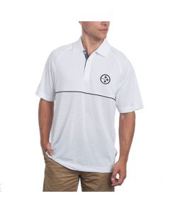 Pittsburgh Steelers Cutter & Buck DryTec Junction Hybrid Polo
