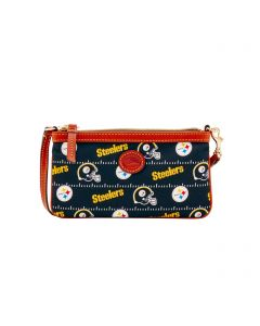 Pittsburgh Steelers Dooney & Bourke Nylon Large Slim Wristlet