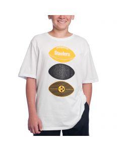Pittsburgh Steelers Boys Triple Option Short Sleeve T-Shirt